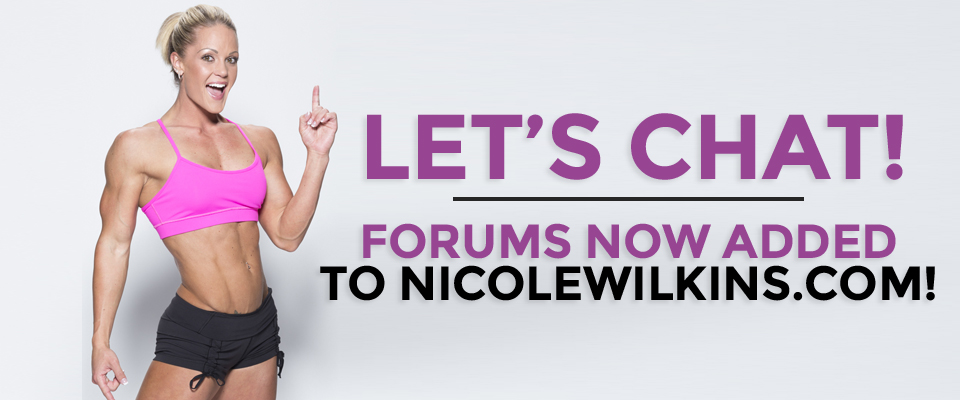 Chat With Me On The All-New Forums! | Nicole Wilkins