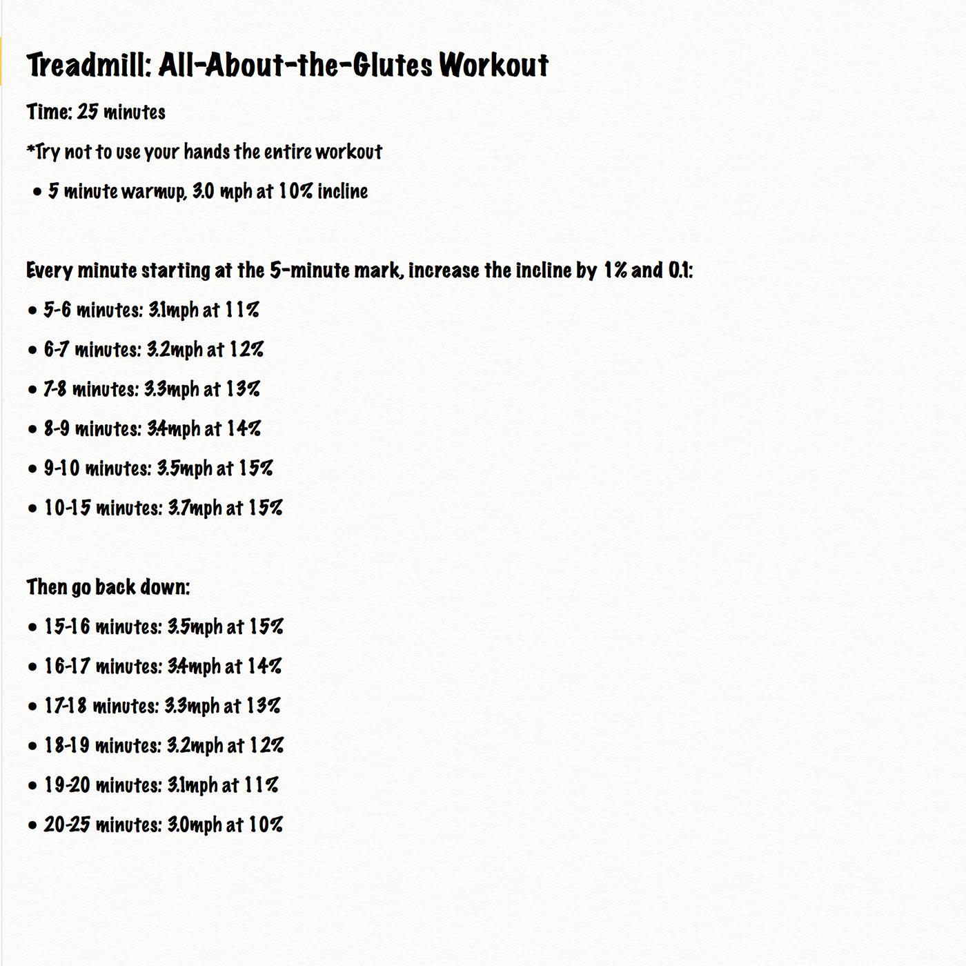 treadmillglutesworkout