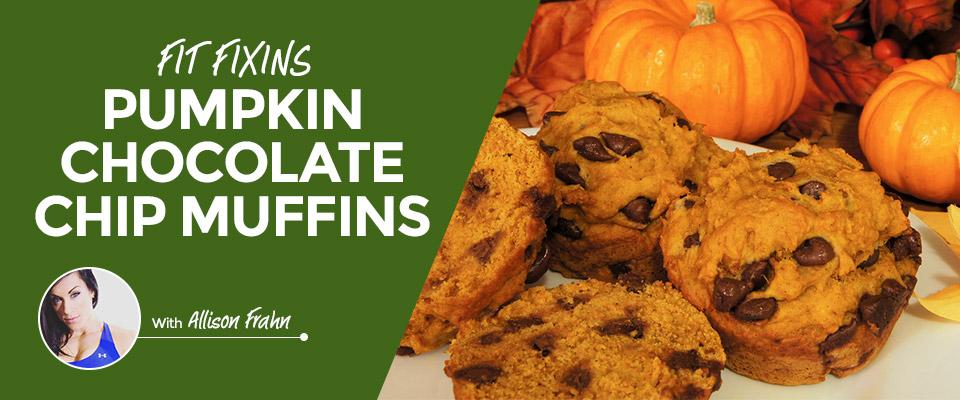 Fit Fixins: Pumpkin Chocolate Chip Muffins